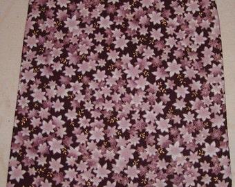 Purple flower zipper make up bag