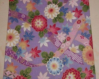 Purple Floral Asian zipper make up bag