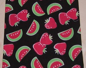 Watermelon zipper make up bag