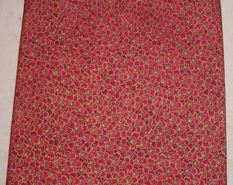 Red Flower zipper make up bag