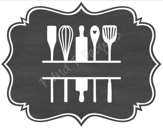 Split Kitchen Utensils Svg Amp Png Instant Download Etsy
