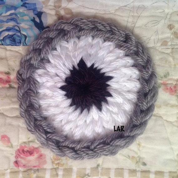 loom knit eye 2 sizes instant download etsy