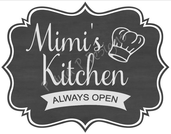 Mimi S Kitchen Svg Png Instant Download Etsy