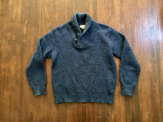Vintage LL Bean Wool Shawl Collar Sweater