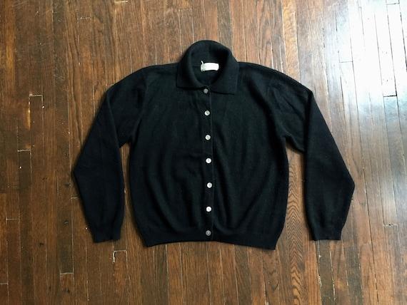 Vintage Black Cashmere Cardigan