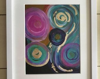 "Swirls Abstract 8""x10"" Art Print"