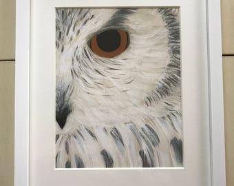 "Gray Owl 8""x10"" Art Print"