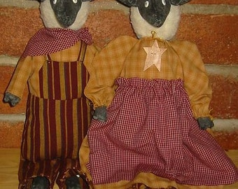 Joshua and Ruth Sheep Dolls E-Pattern, Downloadable Digital Pattern