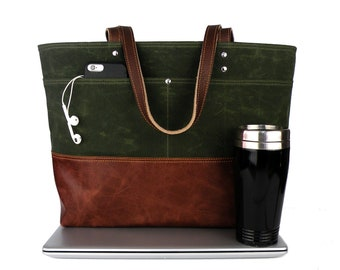 c628d9dc90 Large Olive Green tote