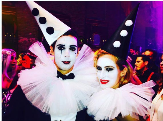 Klassische Clown Hut Schwarz Und Weiss Zirkus Kostum Etsy