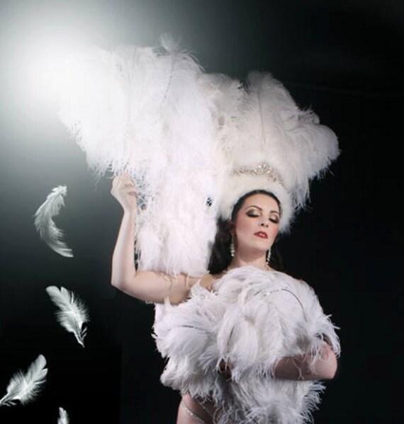 Samba capelli gioielli brasiliano MOLLA testa GIOIELLI BIANCO carnevale burlesque