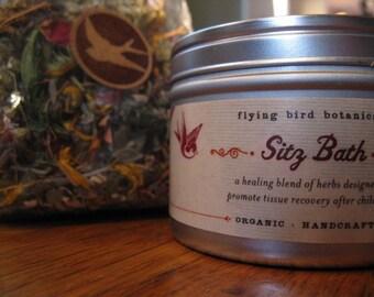 herbal sitz bath with refill, organic herbal bath for postpartum