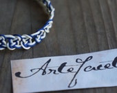 Sailors Knot Macrame Bracelet, Handmade by Artefacet, Two-Toned Repeated Sailor 39 s Knot Nautical Bracelet with Swarovski Crystals