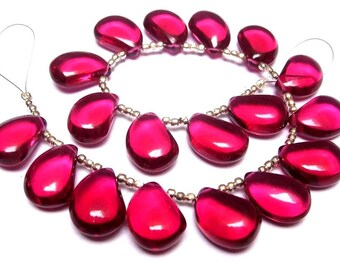 Gemstone Beads DIY Jewelry Making Supplies Earrings Pair Earrings Pair 10 Pcs 18x13mm Natural Red Onyx Faceted Pear Briolettes