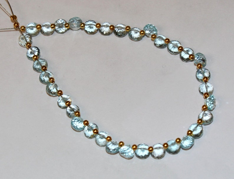 Jewelry making Semiprecious Gemstone Beads Wire Wrapping 34 Pcs 4x5mm Natural Sky Blue Topaz Faceted Onion Briolette Beading B09
