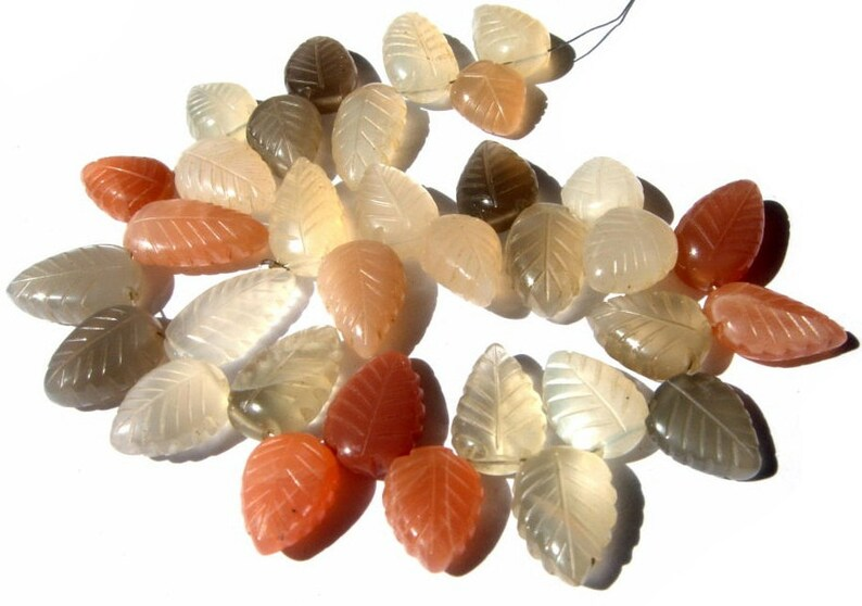 Wire Wrapping 32 Pcs 8 12x9-16x9mm Natural Multi Moonstone Carved Pear Briolettes Semiprecious Gemstone DIY Jewelry Making Beads