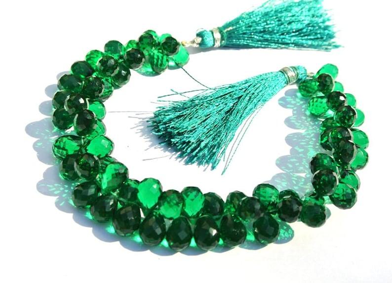 Jasper Green Gemstone Teardrop Beads DIY Jewelry Making Bead USA Shipping