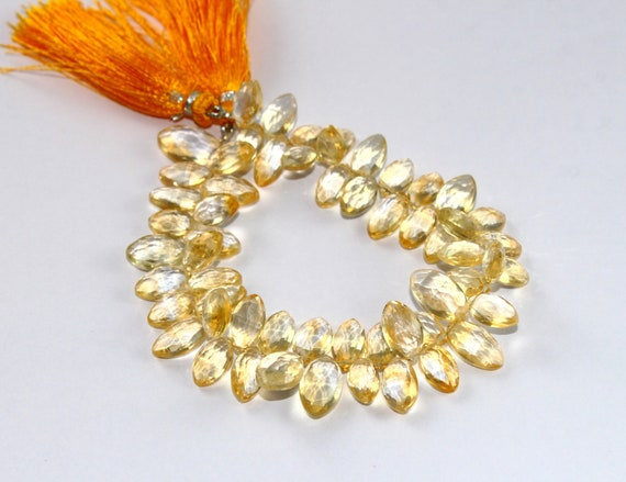 Wire Wrapping Semiprecious Gemstone Briolette DIY Jewelry Making Beads 14 3.5mm AAA Natural Lemon Quartz Micro Faceted Rondelle Beads