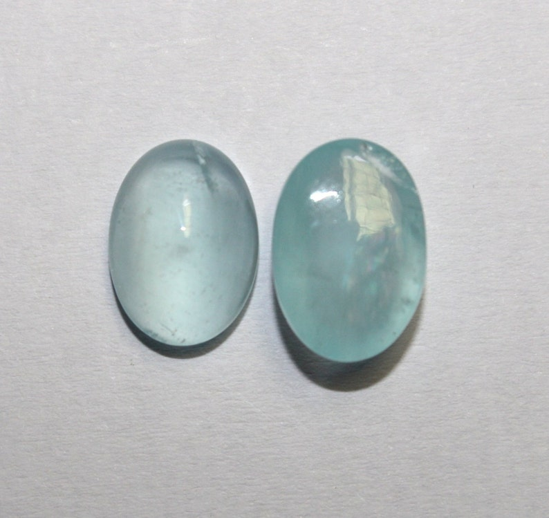 25X20 MM Loose Cabochons for Jewelry Making Natural Aquamarine Smooth Oval Cabochon Aquamarine Cabochons 51 carat Oval Cabochon
