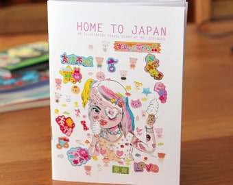 Home To Japan - Illustrated travel diary zine / comic / book by Mel Stringer