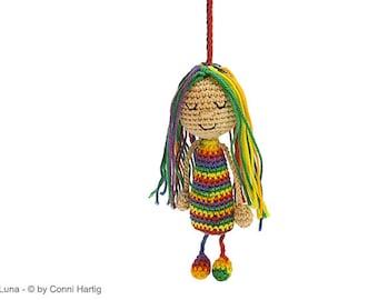 bag pendant doll PDF crochet pattern amigurumi tutorial by Conni Hartig tutorial ebook doll dolly girl puppet maid