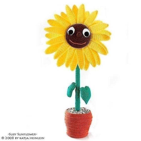 Sonnenblume Häkelanleitung Deko Blume ebook file Häkelblume | Etsy