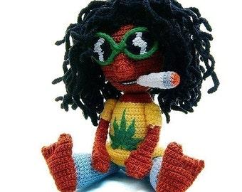 amigurumi pattern Dudy Dude Amigurumi Rasta Jamaica Cool by Katja Heinlein tutorial file man doll crochet figure ebook