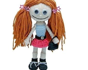 Gill Girlie by Katja Heinlein, crochet pattern, pdf tutorial, amigurumi girl by doll file girl dolly maid ebook human people