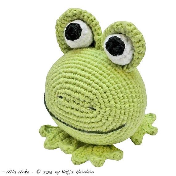 Glotzi Frosch Pdf Häkelanleitung By Katja Heinlein Spielzeug Etsy