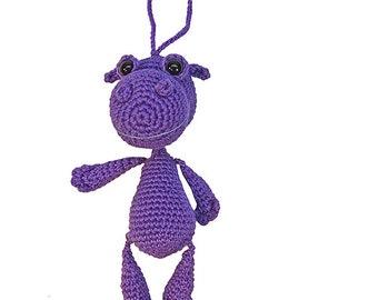 bag pendant hippo, PDF crochet pattern amigurumi tutorial by Katja Heinlein, persian tutorial ebook river horse
