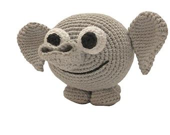 amigurumi animal glotzis PDF crochet pattern tutorial by Katja Heinlein elephant tusker stuff toy digital file indian asien african tutorial
