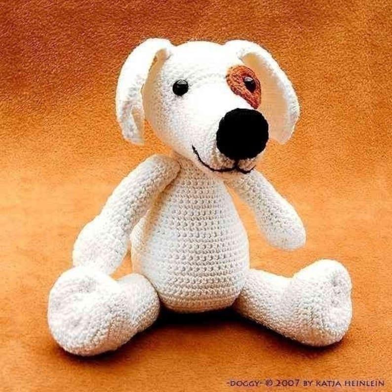 dog Doggy crochet PDF Pattern amigurumi tutorial animal image 0