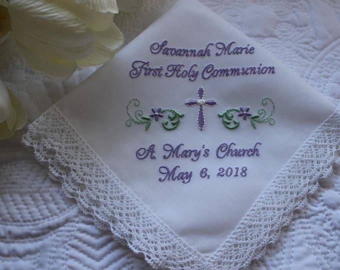 Personalized First Communion Gift for Girls
