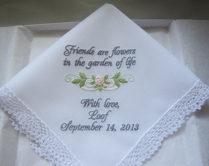 Friendship Personalized Wedding Handkerchief
