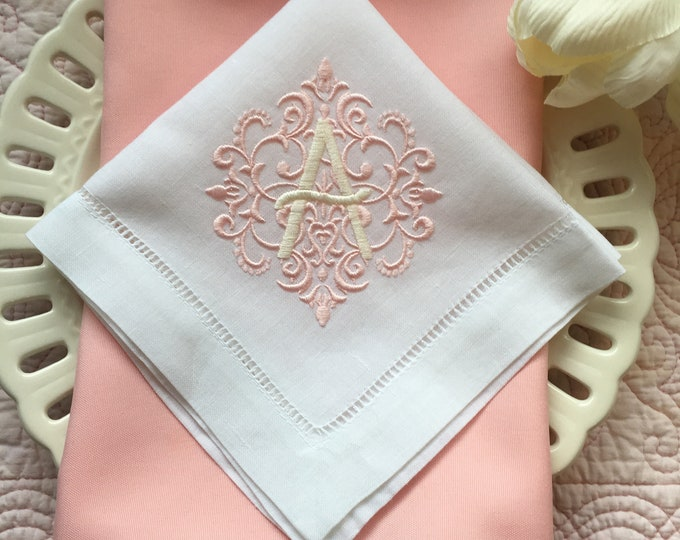 Reserved Listing for Charlotte- Custom Monogrammed Linen Luncheon or Tea Wedding Napkins