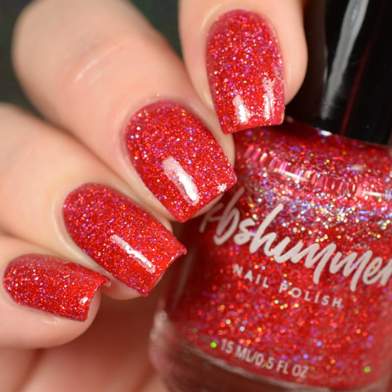 Deck The Claws Red Mega Flame Nail Polish by KBShimmer