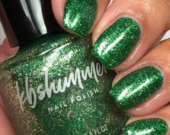 Emerald Metallic Flake With Holo Polish by KBShimmer