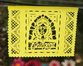 Papel Picado Banner CHINGONA - feminist gift, graduation party decoration, retirement