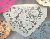 Papel Picado Banners - DEBUSSY - custom color wedding garlands