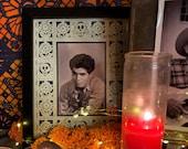 Muerto Papel Picado Frame Mats -  set of 2 - Day of the Dead altar, Dia de Los Muertos Ofrenda