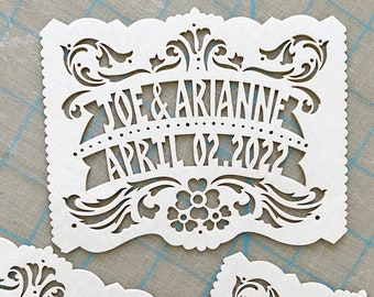 Mexican wedding invitation inserts - Personalized, custom color - BUENOS AIRES papel picado embellishment