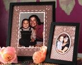 Papel Picado glitter picture frame mat -  set of 2 - Day of the Dead, Dia de Los Muertos altar art