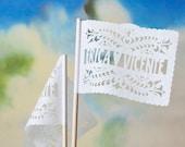 Papel Picado Flags - Personalized SANTA CRUZ banderitas - Any occasion