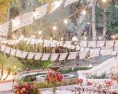 Hacienda wedding papel picado banners - personalized, custom color - DOS PALOMAS