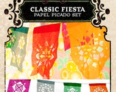 Set - CLASSIC FIESTA papel picado banners - Save 10% - custom color