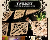 Set - TWILIGHT papel picado - Save 10% - custom wedding banners and flags