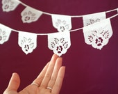 Papel picado banners - LAS FLORES minis - Ready Made