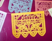 Wedding decorations - AMOR papel picado banners - custom color