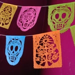 Day of the Dead papel picado banners - MUERTITOS - Ready Made