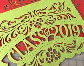 Graduation party decorations - CLASS OF 2019 papel picado banners - order in your custom school colors